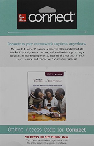 9781259730870: Connect 1- Semester Access Card for McGraw-Hill's Taxation of Individuals 2017 Edition, 8e
