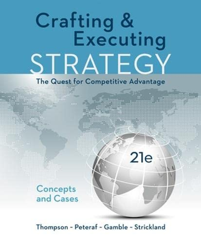 9781259732782: Crafting & Executing Strategy: The Quest for Competitive Advantage: Concepts and Cases