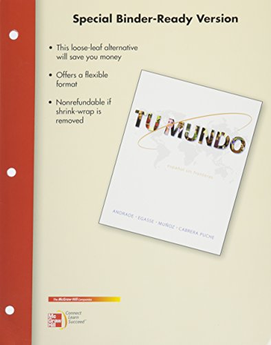 9781259745287: Loose Leaf for Tu Mundo with Connect (with WBLM) with LearnSmart Achieve Access Card