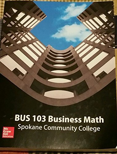 9781259762109: BUS 103 Business Math ISBN 9781259762109