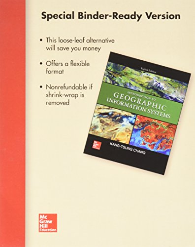 Package: Loose Leaf Introduction to Geographic Information Systems with Connect 1-semester Access ...