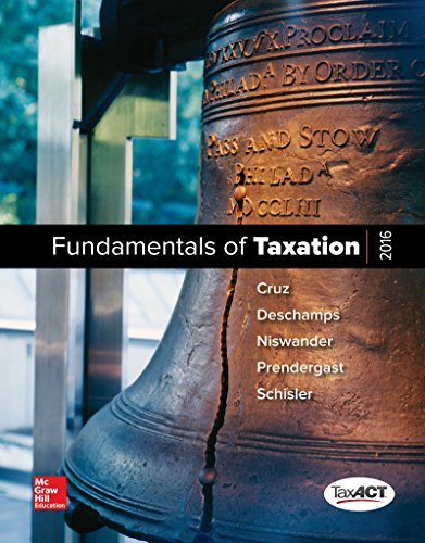 9781259812774: MP Fundamentals of Taxation 2016 Edition with TaxACT CD-Rom