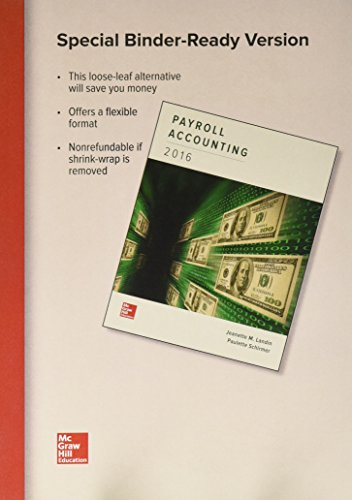 9781259821943: Loose Leaf for Payroll Accounting 2016 with Connect Access Card