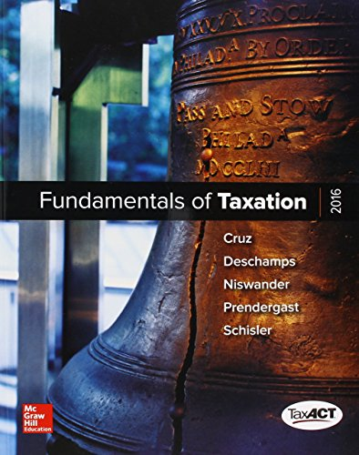 9781259822995: MP Fundamentals of Taxation 2016 with TaxACT CD-Rom with Connect Access Card