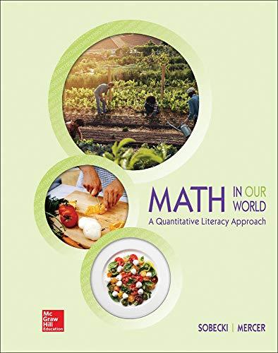Math in Our World: A Quantitative Literacy: David Sobecki