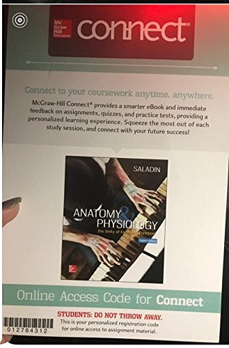 CONNECT ACCESS CARD FOR ANATOMY AND PHYSIOLOGY by SALADIN: MCGRAW ...