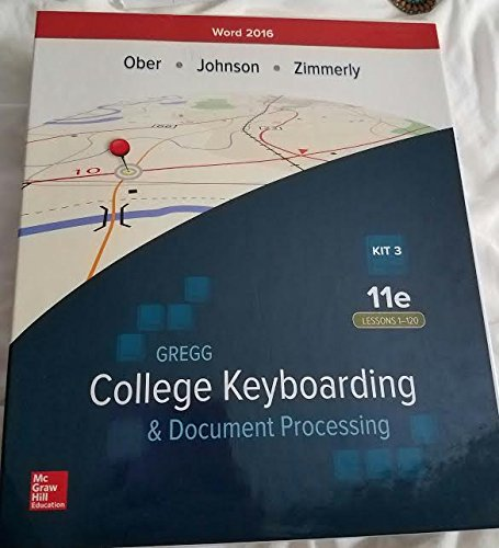 9781259883712: GREGG..KEYBRD.+...OFF.WORD'16-KIT 3 BOX