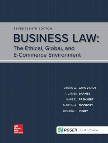9781259917110: Business Law : the Ethical, Global, and E-commerce Environment