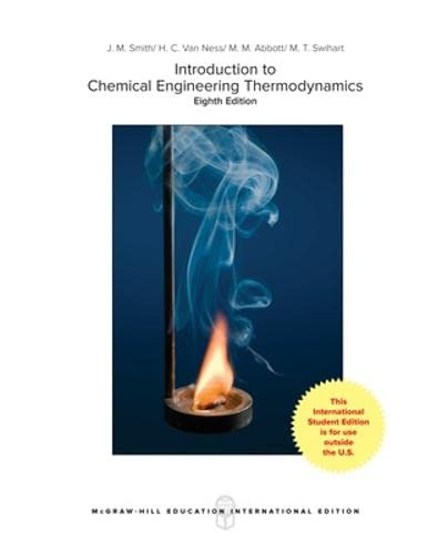 9781259921896: Introduction to chemical engineering thermodynamics
