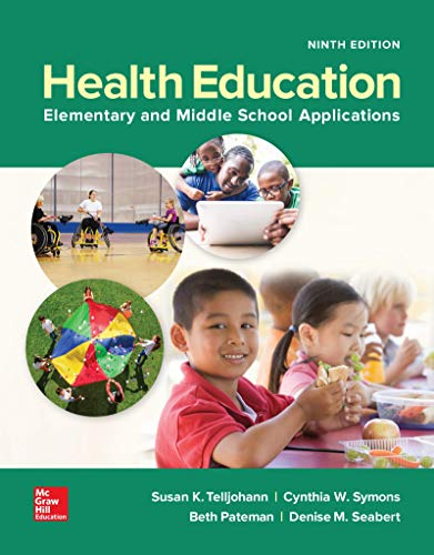 9781259922381: Health Education: Elementary and Middle School Applications