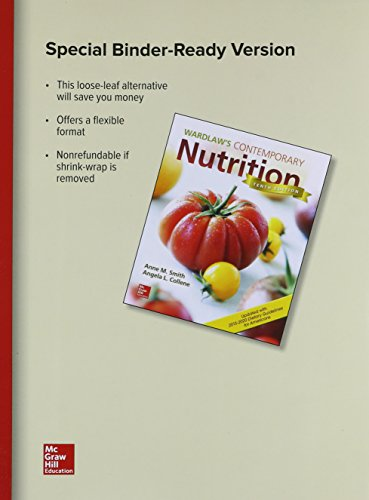 GEN COMBO LL WARDLAWS CONTEMPORARY NUTRITION UPD /DIETARY GUIDELINES; CONNECT AC: Smith, Anne;...