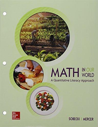 Quantitative Literacy (Loose Leaf) with Connect Math: David Sobecki