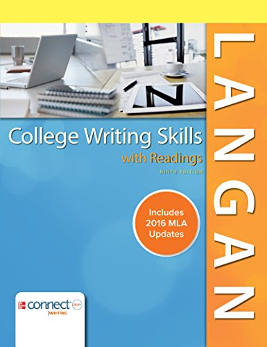 9781259988547: College Writing Skills with Readings MLA 2016 Update