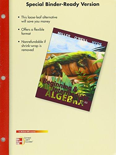 Loose Leaf Version for Beginning and Intermediate Algebra with ALEKS 360 52 week Access Card: ...