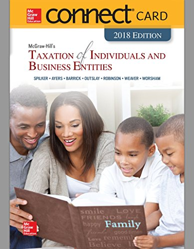 9781260007435: Connect Access Card for McGraw-Hill's Taxation of Individuals and Business Entities 2018 Edition