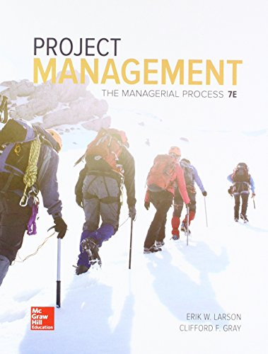 Gen Combo Project Management: The Managerial Process; Connect Access Card (Book): Erik W Larson