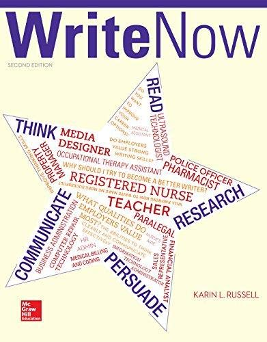 Write Now: Karin L Russell