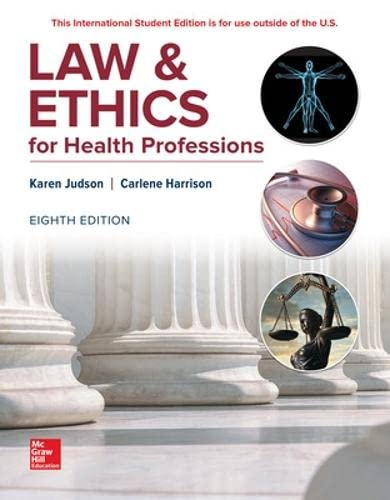 9781260092653: Law and Ethics for Health Professions