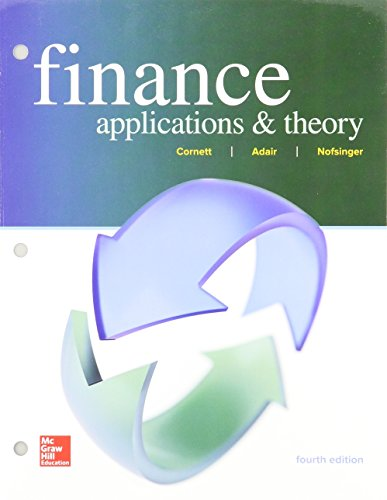 GEN COMBO LOOSELEAF FINANCE: APPLICATIONS AND THEORY; CONNECT ACCESS CARD: Marcia Millon Cornett