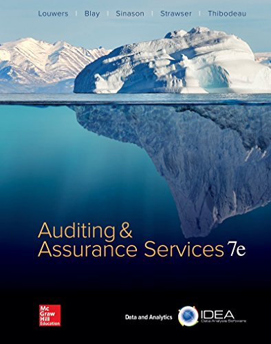 Loose Leaf for Auditing & Assurance Services: Timothy Louwers