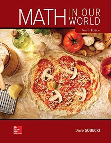Loose Leaf for Math in Our World: David Sobecki