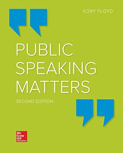 9781260397260: Public Speaking Matters