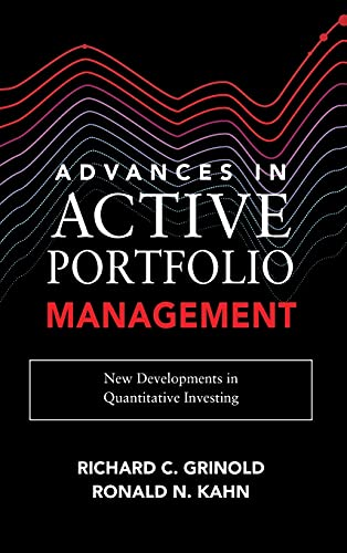 9781260453713: Advances in Active Portfolio Management: New Developments in Quantitative Investing