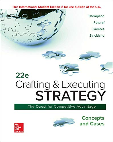 9781260565744: ISE Crafting & Executing Strategy: Concepts and Cases