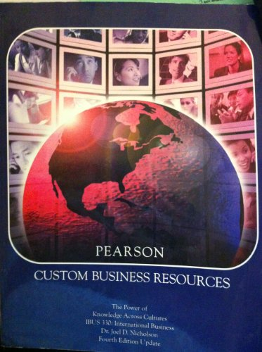 Pearson Custom Business Resources (The Power of: Dr. Joel D.