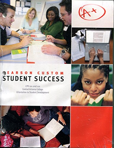9781269064804: Student Success CPD 101 and 110 Pearson Custom Central Arizona College