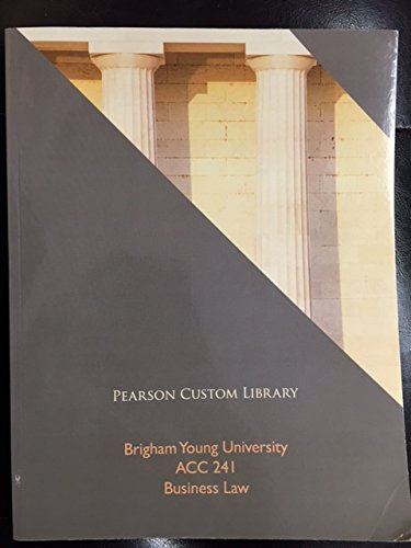 9781269113960: ACC 241 Brigham Young University Business Law Pearson Custom Library