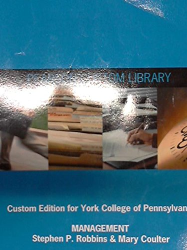 9781269114042: Management (Custom Edition for York College of Pennsylvania)