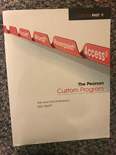 9781269130165: The Pearson Custom Program