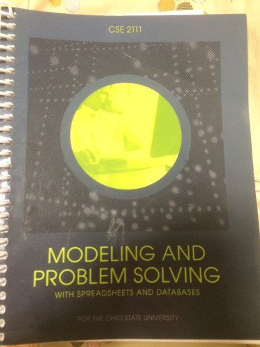 9781269131339: Modeling and Problem Solving with Spreadsheets and Databases
