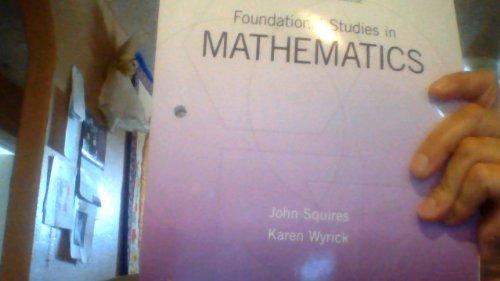 9781269134071: Foundational Studies in Mathematics