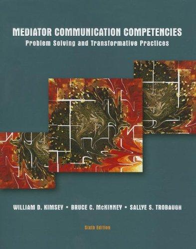9781269135818: Mediator Communication Competencies (6th Edition)