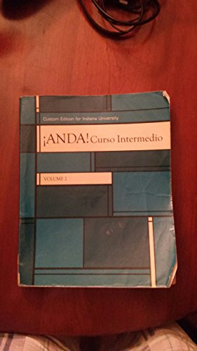 9781269138321: íAnda! Curso Intermedio (Second Custom Edition for Indiana University)