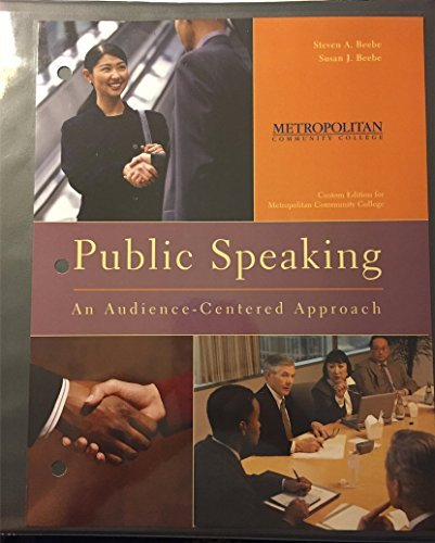 9781269139663: Public Speaking an Audience-centered Approach: Custom Edition for Metropolitan Community College