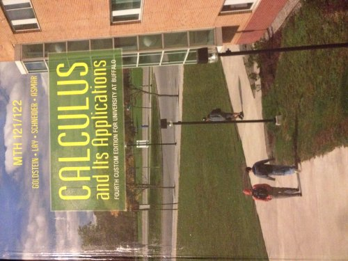 9781269200769: Calculus and Its Applications (Fourth Custom Edition for University At Buffalo)