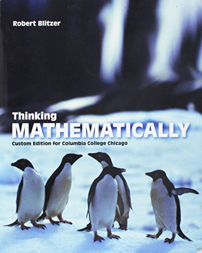 9781269201445: Thinking Mathematically - Custom Edition for Columbia College Chicago - 5th edition