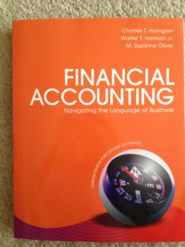 9781269221931: Financial Accounting (College of Dupage custom edition with Access code)