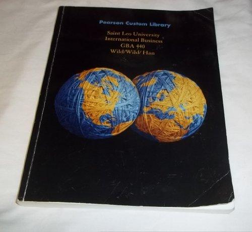 9781269239615: Pearson Custom Library International Business GBA 440 St. Leo University