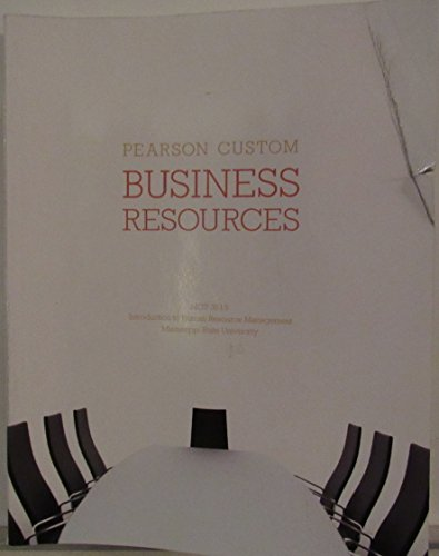 9781269241946: Business Resources: MGT 3513 Introduction to Human Resource Management MSU