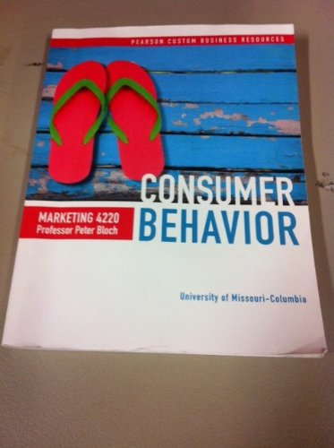 9781269243384: Consumer Behavior: Marketing 4220 MU Custom