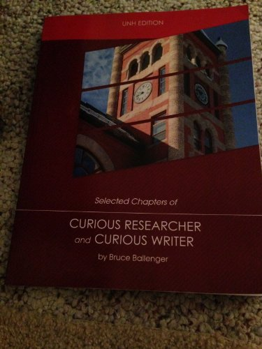 9781269260084: Curious Researcher and Curious Writer