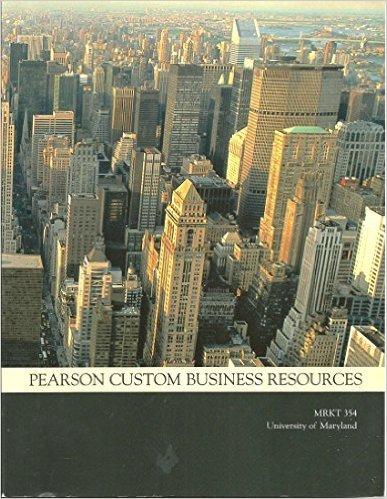 9781269261623: Pearson Custom Business Resources Mgt6305 Operations Management Rowan U