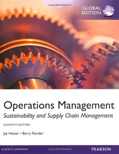 9781269261630: By Jay Heizer Barry Render Operations Management, Sustainability and Supply Chain Management (11th) [Paperback]