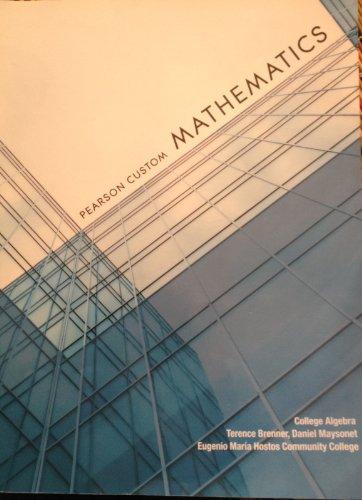 9781269262590: Pearson Custom Mathematics - Hostos Community College Custom Edition