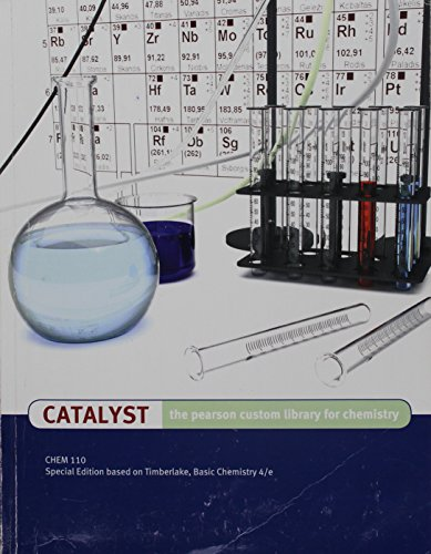 9781269268219: Catalyst: The Pearson Custom Library for Chemistry