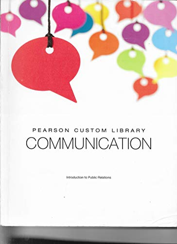 9781269273343: Introduction to Public Relations (Pearson Custom Library, Communication)